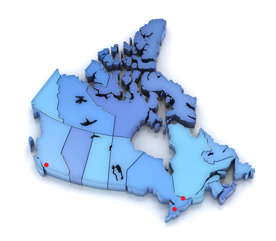About Repwave Inc A Canadian Manufacturers Representative – Map of Canada Showing Ottawa